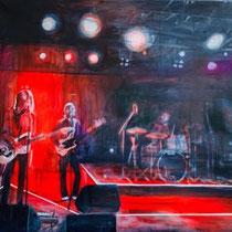ISOLDE TOMANN, Edwyn Collins Band, Acryl / Leinwand, 100x102cm, 2019
