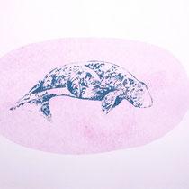 KARINA MENDRECZKY, Whale 2, Radierung / Papier, 40x50cm, 2020