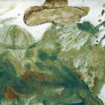 MAX WEILER, Vögelsberg, 1977, Eitempera auf Leinwand, 115x160cm