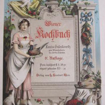 JOH. VICTOR KRÄMER, Wiener Kochbuch (Louise Seleskowitz), um 1880, Farblithographie: 37,5x26cm