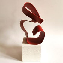 ARMINA HATIC, Skulptur rot, Metall, Farbe