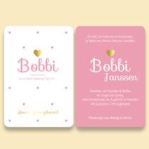 Geboortekaartje Bobbi