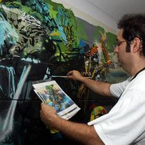 FIRST INTERNATIONAL BIENNIAL OF MURAL AND PUBLIC ART. Cali, Colombia. November 2012
