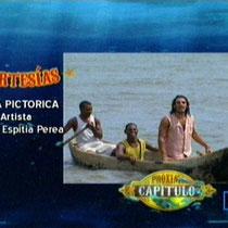 La obra Pictórica de la novela CHEPE FORTUNA es realizada por el maestro RAFAEL ESPITIA como primer artista que contrata RCN para ambientación de escenografía con su obra.
