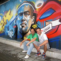 Artists Rafael Espitia (Colombia) & MrDheo (Portugal)