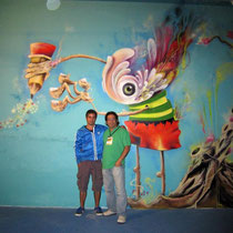 "Artists Giovanni ""Moni Kongo"" (Colombia) & Rafael Espitia (Colombia)"
