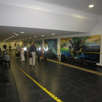 MetroCali MIO - Menga; Cali, Colombia. Mural of 4x2 mts by Rafael Espitia - Nature speaks, men don't listen…wake up!
