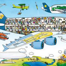 Wimmelbuchverlag, Das große Flughafen Wimmelbuch, in der Luft