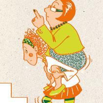 Coachingmeisterei, mit welchen Problemen werden Mütter beim beruflichen Wiedereinstieg konfrontiert, Postkarten