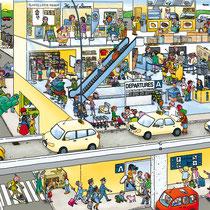 Wimmelbuchverlag, Das große Flughafen Wimmelbuch, Ankunft am Terminal