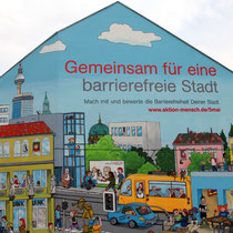 Aktion Mensch, Plakat zum Aktionstag 5. Mai 2016, Hauswand in Berlin