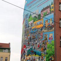 Aktion Mensch, Plakat zum Aktionstag 5. Mai 2017, Hauswand in Berlin