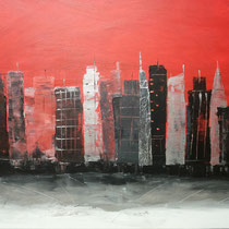 """29 In the evening in  New York.  60x100         """"2015"""""""