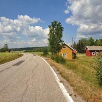 Finnische Häuser am Land