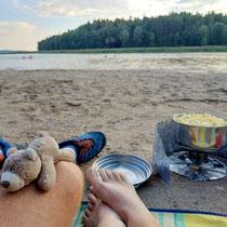 Abendessen am Strand