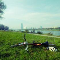 Pause auf der Donauinsel