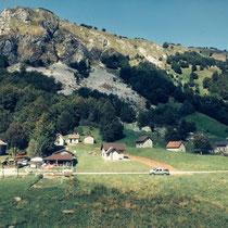 Bergwelt an der Grenze Italien Slowenien