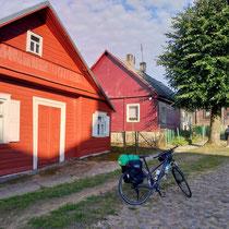 Schöne bunte Häuser im Baltikum