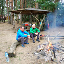 Im Regen am Campingplatz