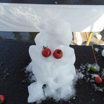 ユニークな雪だるまがたくさんできました!