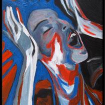"""la tempête n°1, portrait de l'artiste balladyna (55x38cm)"