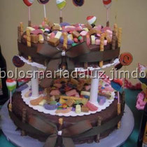 Bolo de chocolate festa do ridículo