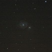 Supernova en la Galaxia del Remolino imajen tomada el 11 de julio de 2.005 a las 00:44 Telescopio Newton 310mm Canon EOS 300D ISO3.200 69seg.