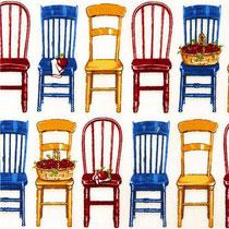 366. Tissu Kaufman chaises