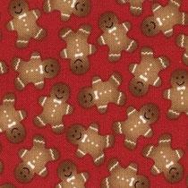 386. Tissu Timeless Treasures rouge pain d'épice