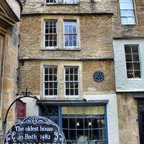 Das älteste Haus von Bath von 1482
