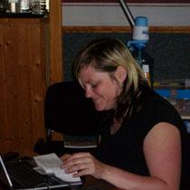 Kathrin beim Noten schreiben