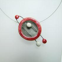 acheter le collier ceramique raku de l'atelier simplement terre