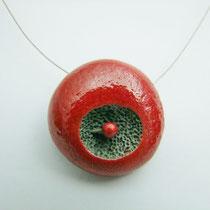 voir collier de créateur en céramique raku