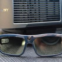 Eine Auswahl an 3D-Brillen ist selbst verständlich ebenfalls vorhanden