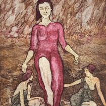 """Maria ascendit"", Aquatinta/Mezzotinto, 29,5 * 39,5 cm"