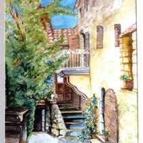 """Haus in der Provence"", Aquarell, 31 * 41 cm"