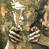 """Ohne Titel"", Farbholzschnitt, 25 * 20 cm / Untitled, color woodcut"
