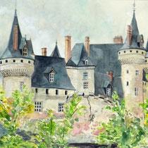"""""""Sully sur Loire"""", Aquarell, 43 * 33 cm"""
