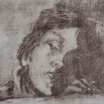 """Knabenkopf"", Mezzotinto, 23,5 * 29,5 cm"