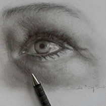 """Eigen """"oog"""" tekenen onderdeel van een les voorbeeld suzan te Wildt"""