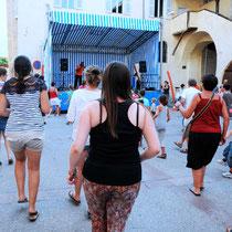 Cours de zumba en plein air 2013