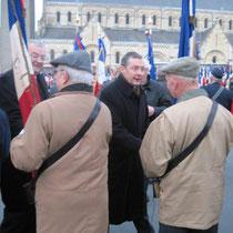 A Saint-Lô, au milieu des porte-drapeaux