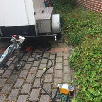 Generator Prüfung: 'Erdwiderstand 'Erdspiess' am Base Camp Stromerzeuger'