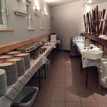 die Küche steht bereit