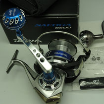 Daiwa Saltiga 6500 H & PA 001-D Arm w/ Ultimate Jigging 45mm Reel Knob