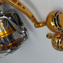 Shimano 2008 Stella 20000 SW & Ultimate Jigging PA-001 S Arm w/ 45mm Tyep II Reel Knob