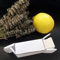 Fabrication de savons lavande et citron
