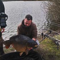 Carpe 20 kg , étang Acrocarpe.