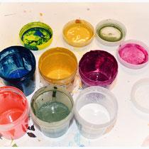 Verdünnte Acrylfarben