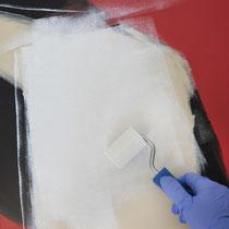 Malen mit Schaumstoffwalze